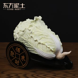 Oriental clay ceramic lucky cabbage place to live in the living room and TV ark, decoration/best wealth together
