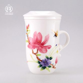 DH jingdezhen ceramic cup with cover cups filter tea cup of ms office tea cups
