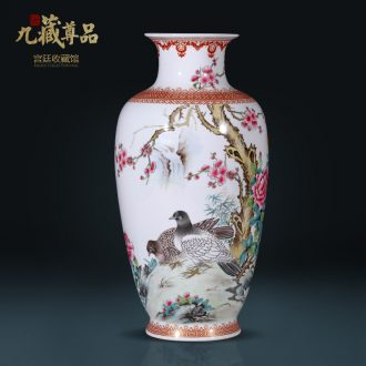 Master of jingdezhen ceramics hand-painted powder enamel bottles of Chinese style living room porch TV ark antique flower arrangement furnishing articles