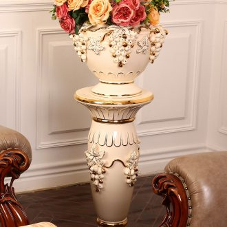 Luxury european-style ceramics vase flower arrangement sitting room place the hotel villa large ground flowerpot Roman column ornaments