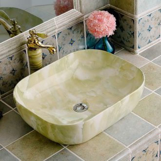 Square ceramic creative household European toilet stage basin bathroom art basin that wash a face wash to its ehrs hands and face plate of the bathroom