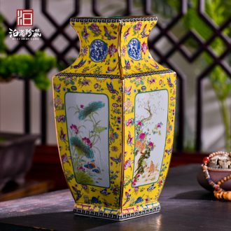 Jingdezhen ceramics imitation qing qianlong Chinese dried flowers sitting room porch home decoration craft vase furnishing articles