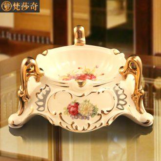 Vatican Sally 's sitting room of Europe type restoring ancient ways of creative home ashtray household ceramics tea table desk KTV ashtray