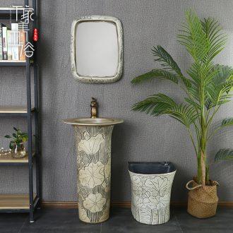 M beautiful ceramic basin lavatory floor toilet lavabo, one column column is suing pillar type basin