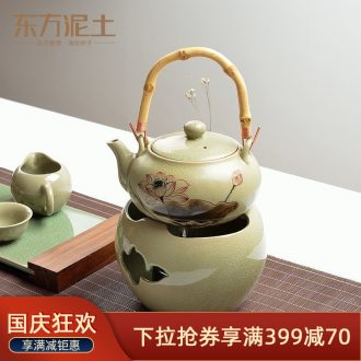 Oriental clay ceramic hand-painted teapot furnishing articles creative new home sitting room/boiled tea, soft outfit decoration arts and crafts