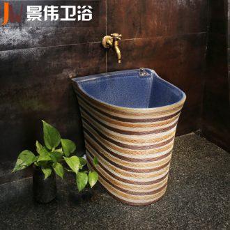 JingWei mop pool ceramic floor mop pool balcony mop bucket large mop pool large is suing the toilet