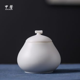 JiaXin ancient dehua white porcelain tea pot checking ceramic seal POTS mini jar boxes of tea POTS
