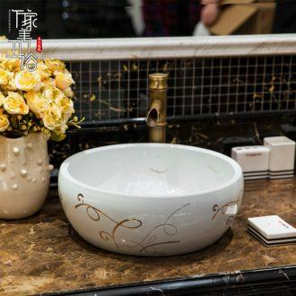 Jingdezhen American art square on the toilet lavabo lavatory basin basin on its colour ribbon