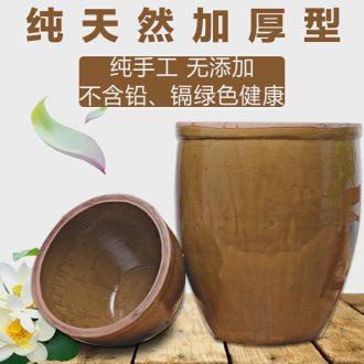 Ceramic large household fish tank yard fermentation cylinder barrel water lily lotus pickles JiangGang old kitchen