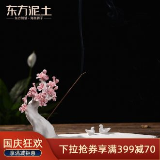 Oriental soil creative ceramic furnishing articles home tea house sitting room TV ark adornment/niaoyuhuaxiang D49-10