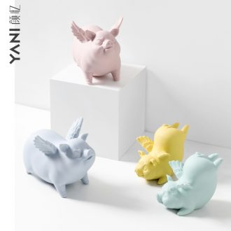 """Nordic ins furnishing articles, lovely ceramic wind flying """"creative contracted household soft outfit decoration decoration housewarming gift"""