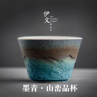 Evan ceramic sample tea cup kung fu tea master cup single CPU individual cup of coarse pottery teacup small tea cups