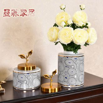 Murphy's new Chinese creative ceramic vase household desktop furnishing articles the sitting room porch receive a vase decoration storage tank