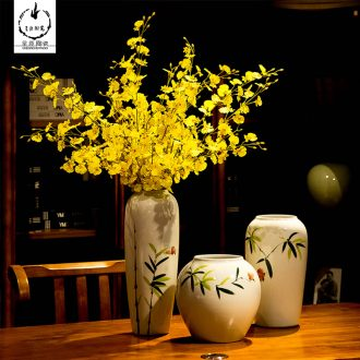 I and contracted fashion creative furnishing articles be born the sitting room of jingdezhen ceramics dried flower vase household decorations