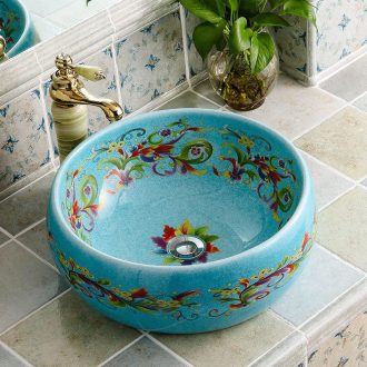 Stage basin round I and contracted ceramic European household bathroom toilet basin basin washing a face decoration art