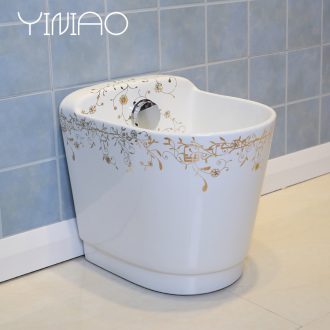 Wash the mop pool ceramic basin pool bathroom floor balcony household size to drag its small mop mop pool