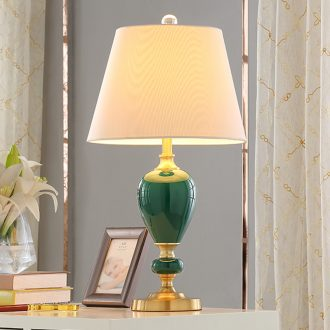 American ceramic desk lamp lamp of bedroom the head of a bed I sweet creative Nordic light key-2 luxury contracted and I home sitting room light