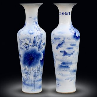 Jingdezhen blue and white porcelain painting more than year after year of large vases, home furnishing articles I and contracted sitting room adornment