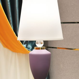 American light key-2 luxury copper lamp decoration ceramics art design all the sitting room is I and contracted pure color bedroom lamps and lanterns of the head of a bed