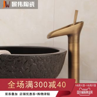 Jingdezhen european-style full copper basin sink general single-hole bibcock of cold hot water glass type household