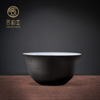 Ceramic cups and hall kung fu tea tasted cup master cup contracted tea cup pure manual small sample tea cup