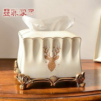 Murphy's creative tissue box sitting room tea table furnishing articles ceramic exhaust carton household table napkin box home decoration