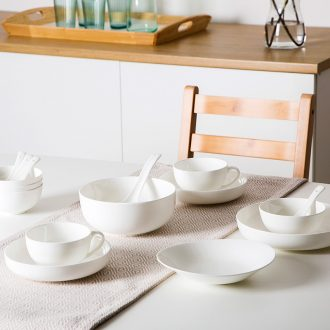 Jingdezhen bowls of ipads plate suit small configuration practical high temperature porcelain tableware in household style of suit