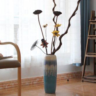Modern American European Mediterranean style ceramic color glaze floor vases, home furnishing articles sitting room adornment