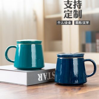 The Office of household ceramic cup tea cup separation with cover the tea cups and contracted mark cup custom logo
