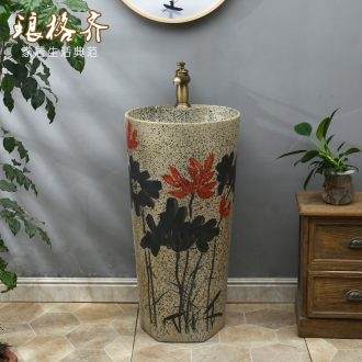 Basin of Chinese style of the ancients pillar ceramic lavatory toilet vertical column type art one pillar lavabo