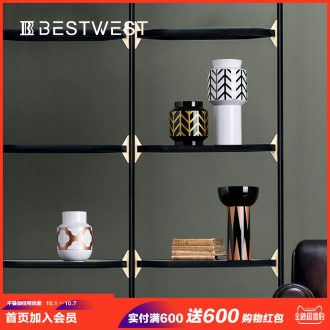 Light luxury furnishing articles ceramic vases, contemporary and contracted home soft decoration sitting room dry flower vase decoration ideas