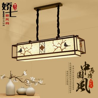 Jiao seven new Chinese style dining-room droplight creative ceramic bird decoration fashion hotel villa art of Chinese style lamps and lanterns is contracted