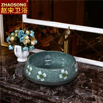 Northern wind restoring ancient ways on the ceramic pot home round toilet lavabo large lavatory balcony on stage