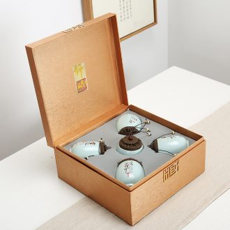 High - grade small pot of tea gift box packing box your up ceramic POTS of tea caddy fixings gift boxes aneroid universal custom