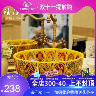 The New national package mail jingdezhen ceramic POTS on the lavatory basin basin sink by restoring ancient ways of the basin that wash a face