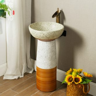 Basin of wash one, one small balcony ceramic Basin of pillar type lavatory toilet column vertical floor type household