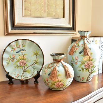 Murphy 's creative ceramic vase three - piece artical wine sitting room porch soft adornment handicraft furnishing articles