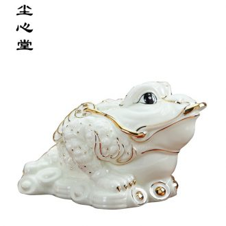 Dust heart new ceramic maxim inlaying toads furnishing articles household act the role ofing is tasted golden cicada tree toad opening gifts wind