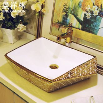 The stage basin irregular square ceramic art basin toilet lavabo, European square lavatory basin