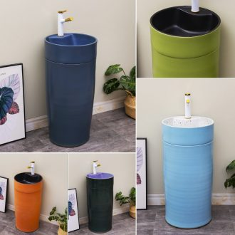 Ceramic contracted floor one column column type lavatory household toilet basin of northern basin of wash one solid color