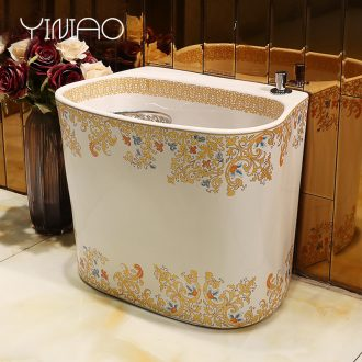 Ceramic art mop pool balcony mop pool home toilet one - piece large mop pool small mop basin