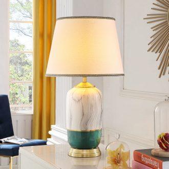 American wedding bedroom ceramic desk lamp postmodern contracted creative Nordic home bedside lamp light key-2 luxury villa living room