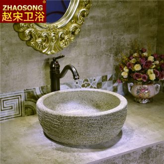 Northern Europe to restore ancient ways on the ceramic basin bathroom sink on the stage of the basin that wash a face Chinese style household lavatory ideas