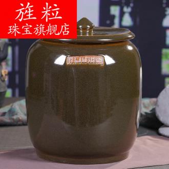 Continuous grain of jingdezhen ceramic tea cake tea pot POTS large POTS of tea pot of water storage tank