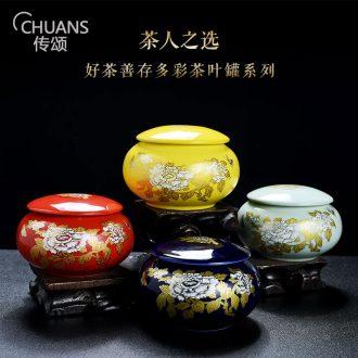 Famed caddy ceramic household seal pot portable mini small tea gift box packaging pu-erh tea boxes