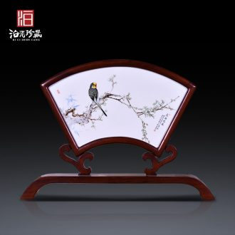 Jingdezhen ceramic hand-painted painting of flowers and decorative porcelain plate painter new Chinese style wall of setting of the sitting room porch hang in furnishing articles