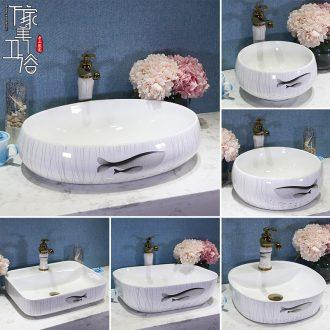 Jingdezhen ceramic lavabo continental basin art basin sink basin sink lavatory household