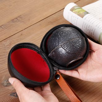 Crack cup travel a pot of two cups of tea set suit portable package with on-board ceramic cup 2 people outdoor type