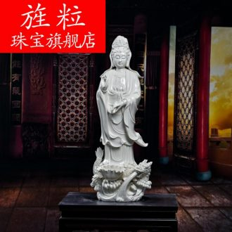 Bm ceramic big Buddha temple villa to crafts are 78 cm li-long gao guan Yin D12 to 40