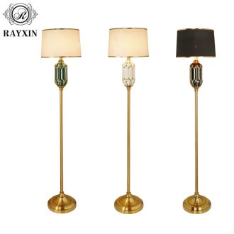 Light key-2 luxury American - style floor lamp of the head of a bed bedroom is I and contracted sitting room ins Nordic warm wind vertical ceramic lamp